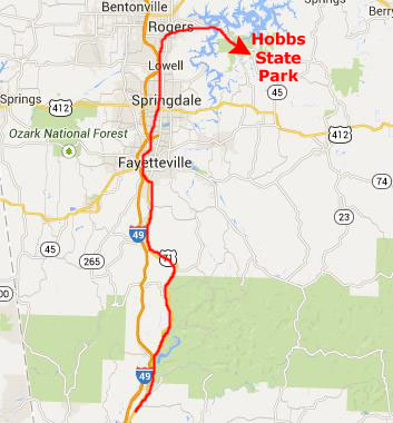 A Fall Trip To Arkansas - Us highway 71 map