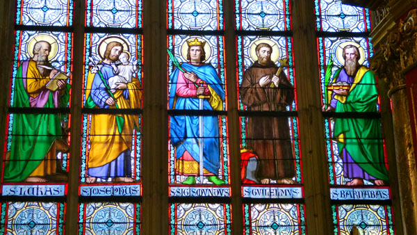 At Left Is One Single Example Of The Beautiful Stained Glass That We Found And Photographed Throughout Cathedral I Am Sure Somewhere There
